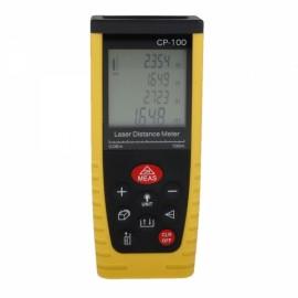 "CP-100 2.5"" Handheld Laser Distance Meter Rangefinder Black & Yellow"