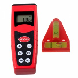 "CPTCAM CP-3000 1.5"" Mini Ultrasonic Distance Measurer Range Finder Red & Black"
