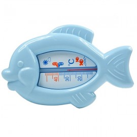 Baby Floating Fish Shape Water Thermometer Plastic Bath Toy Tub Sensor Blue