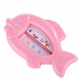 Baby Floating Fish Shape Water Thermometer Plastic Bath Toy Tub Sensor Pink