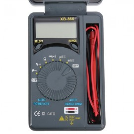 XB-866 LCD Mini Auto Range AC/DC Pocket Digital Multimeter