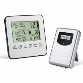Digital Wireless Weather Station Sensor Temperature Humidity LCD Display