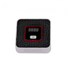 LCD Digital Display Plug-In AC Powered Gas Warning Alarm Sensor
