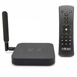 MINIX NEO X8-H Plus 2160P Quad-Core Android 4.4.2 Google TV Player with 2GB RAM + 16GB ROM + A2 Lite Air Mouse Black