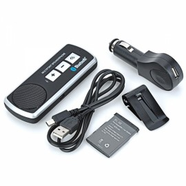 BT610 Dual Standby Bluetooth V2.1 + EDR Multi-Point Speakerphone for Car Sun Visor Black & Silver