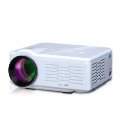 Uhappy U35 800lm 640*480 Home Theater Mini Projector with Remote Control (Support HDMI / SD / USB / TV / AV / VGA) White