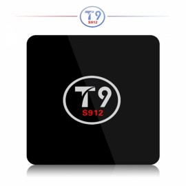 T9 Amlogic S912 2GB RAM 16GB ROM TV Box Black UK Plug