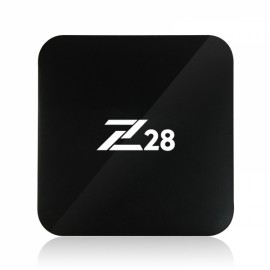 Z28 RK3328 Quad Core 2GB +16GB Android 7.1 2.4G WiFi 100M LAN 4K x 2K 60fps H.265 HEVC Android TV Box Mini PC EU Plug Black