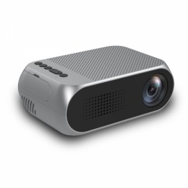 YG320 1080P HD Portable AV USB HDMI Video LED Mini Projector - UK Plug