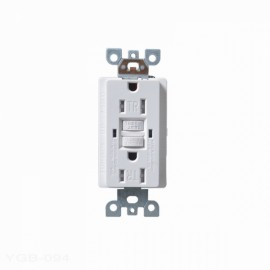 15A 125V Duplex Self-Test Tamper Resistant GFCI Circuit Outlet Electrical Box