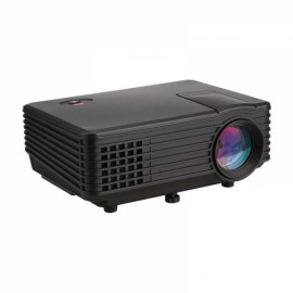 RD-805 LCD LED Projector HDMI VGA USB AV SD TV - Black US Plug
