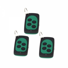 3PCS wireless control universal copy remote control (black + green)