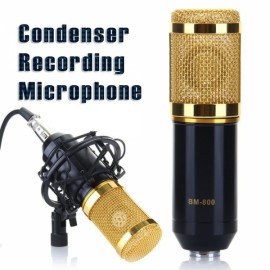 ShenYue BM-800 High-fidelity Condenser Audio Studio Recordable Wired Microphone with Shock Mount Black