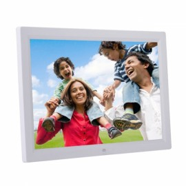 "17"" LED Screen Allwinner V59 1440 x 900 Resolution 16MB HD Digital Photo Frame UK Plug White"