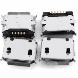10pcs Practical DIY 5-Pin Micro USB Female SMT Socket Plugs Kit White