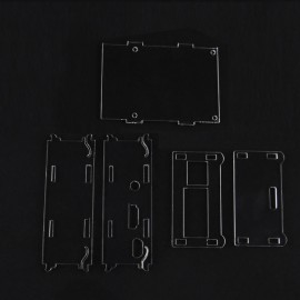 "DIY Acrylic Case for 3.5"" TFT Screen Raspberry Pi B+ Transparent"