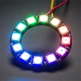 12 x WS2812 5050 RGB LED Ring Light with Integrated Drivers