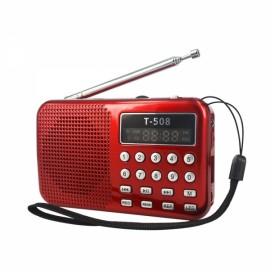 LCD Digita Stereo FM Radio Speaker USB TF Card MP3 Music Player Black