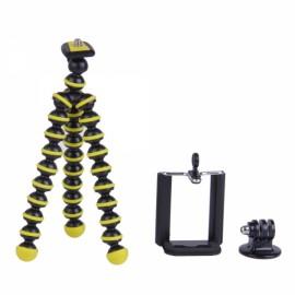 3-in-1 Mini Octopus Tripod for Digital Camera/Phone/GoPro Hero 1/2/3/3+ Black & Yellow