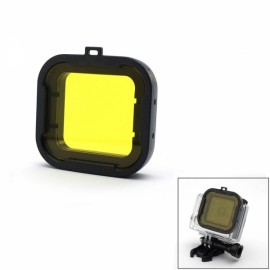 JUSTONE J049-1 58mm Professional Underwater Dive Filter Converter for GoPro Hero 4/3 + Black & Yellow