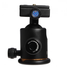 BK-03 Ball Head Ballhead + Quick Release Plate for Tripod Black