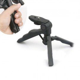 Mini Foldable Camera Tripod Desktop Tripod Stand Holder - Black