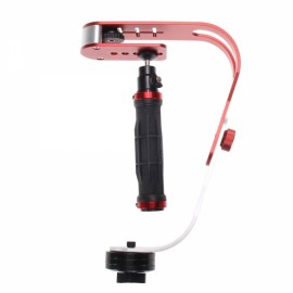 Mini Pro Handheld Video Camera Steadicam Stabilizer for Canon Nikon Sony Digital Compact Camera DSLR Red