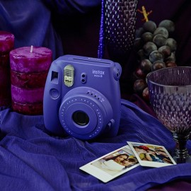 Fujifilm Instax MINI 8 White Instant Film Camera Purple (Batteries Not Included)
