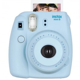 Fujifilm Instax MINI 8 White Instant Film Camera Sky Blue (Batteries Not Included)