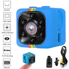 SQ11 Full HD 1080P Mini DV Video Camera Night Vision Recorder - Blue
