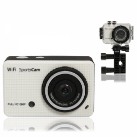 F41 1080P HD WiFi Waterproof Sports Digital Action Video Camcorder White