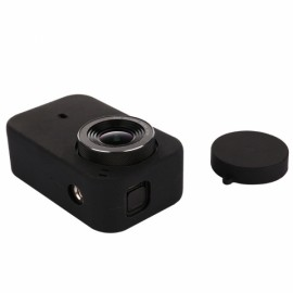 Silicon Soft Protective Case Cover for Mijia 4K Mini Sport Camera with Lens Cap