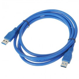 USB 3.0 AM/AM Connecting Cable (150cm) Blue