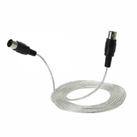 3m / 10ft MIDI Extension Cable 5-Pin Plug Male to Male Connector for MIDI Devices Silver