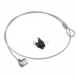 Steel Wire Security Cable Lock with 2-Key for Laptops Silver (114cm)