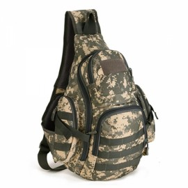 Tactical Military Outdoor Shoulder Bag Day Pack Sling Chest Pouch ACU Camouflage