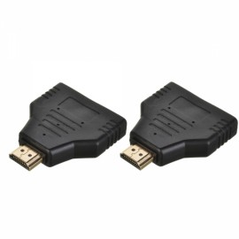 Cwxuan HDMI Male to 2 HDMI Female Adapter Converter *2
