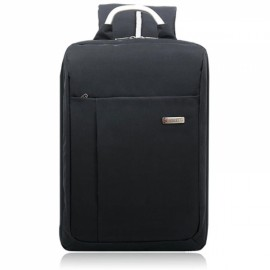 "Exquisite Snow Canvas Backpack for 15.6"" Laptop Black"