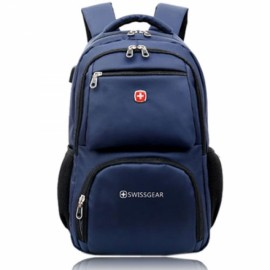 "16"" Portable Laptop Backpack with External USB Interface Blue"
