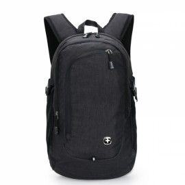 "15"" Portable Oxford Laptop Backpack with External USB Interface Black"