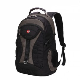 High Capacity Practical Backpack with External USB Interface Gray