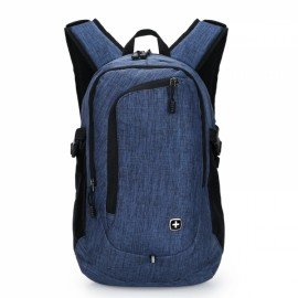 "15"" Portable Oxford Laptop Backpack with External USB Interface Blue"