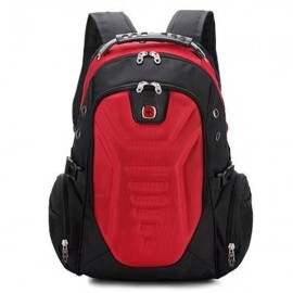 Multifunctional Stylish Adjustable Straps Backpack with External Headphone Jack Red