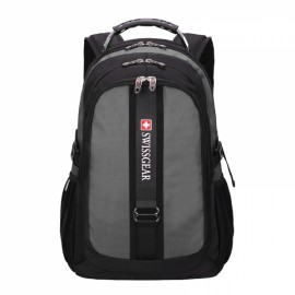 Durable Oxford High Capacity Backpack with External Headphone Jack Gray