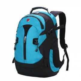 Fashionable Unisex Backpack with External Headphone Jack Green