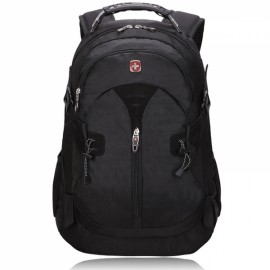 Fashionable Unisex Backpack with External Headphone Jack Black