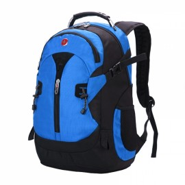 Fashionable Unisex Backpack with External Headphone Jack Blue