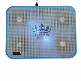 "N135 5 Fans Laptop Cooling Pad with Blue Light for 14-17"" Blue"