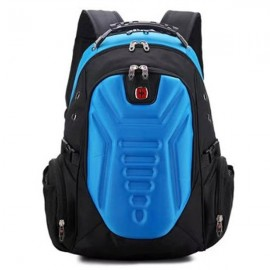 Multifunctional Stylish Adjustable Straps Backpack with External Headphone Jack Blue