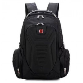 Multifunctional Stylish Adjustable Straps Backpack with External Headphone Jack Black